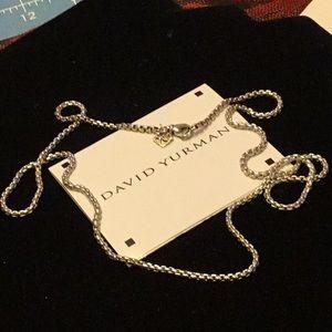 "David Yurman 925 with 14 Kt tag 24'"" Necklace Mint"